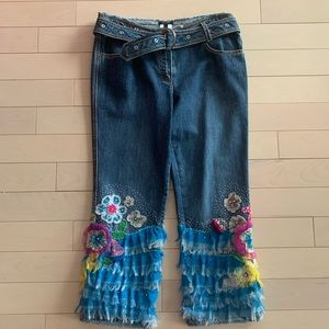 Gorgeous Escada jeans with hand crafted detail